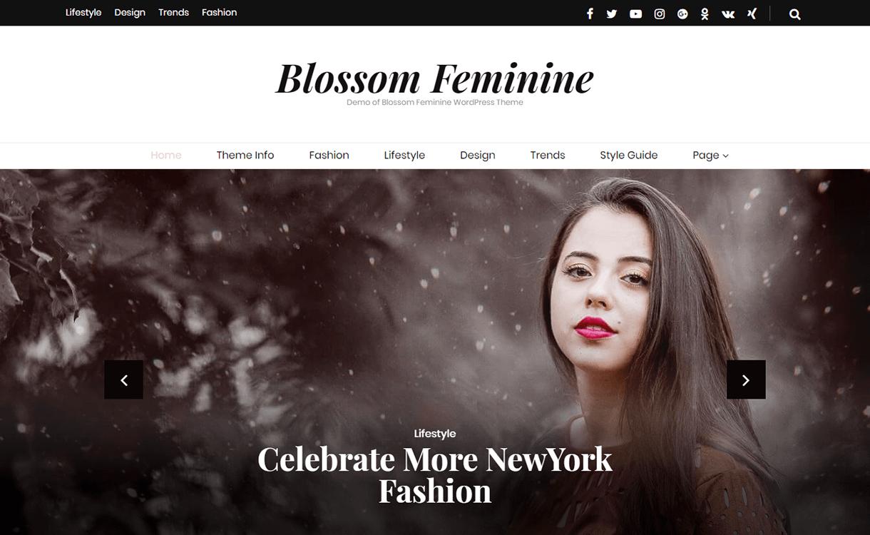 Blossom Feminine-Best Free WordPress Themes December 2017