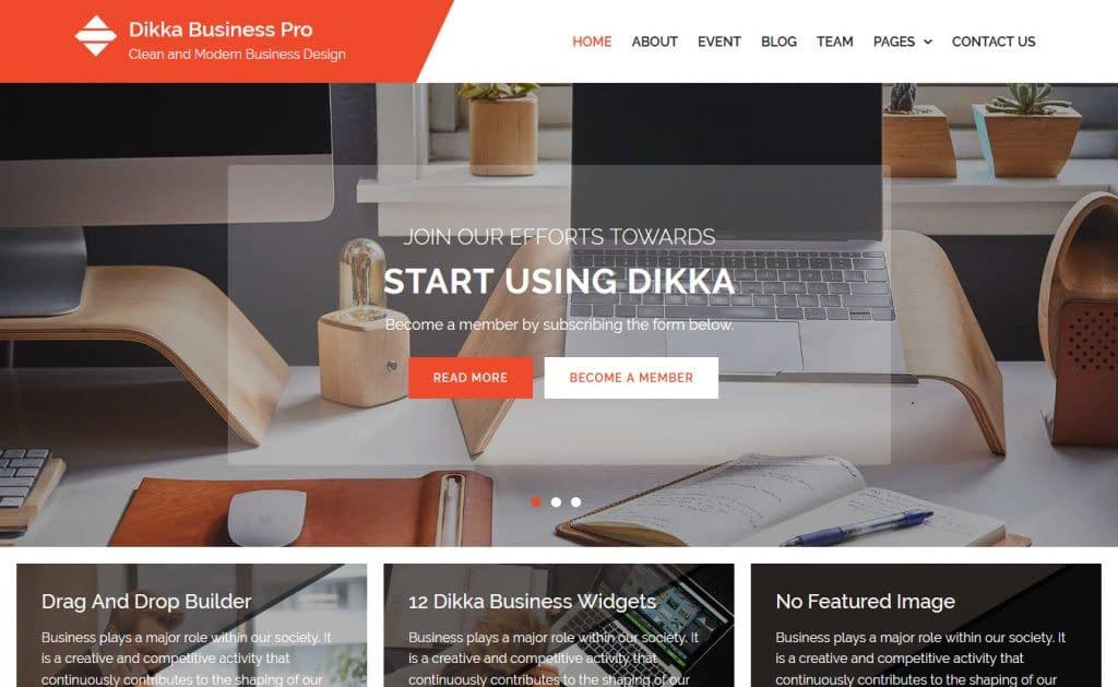 Dikka Business - Free Consulting WordPress Theme