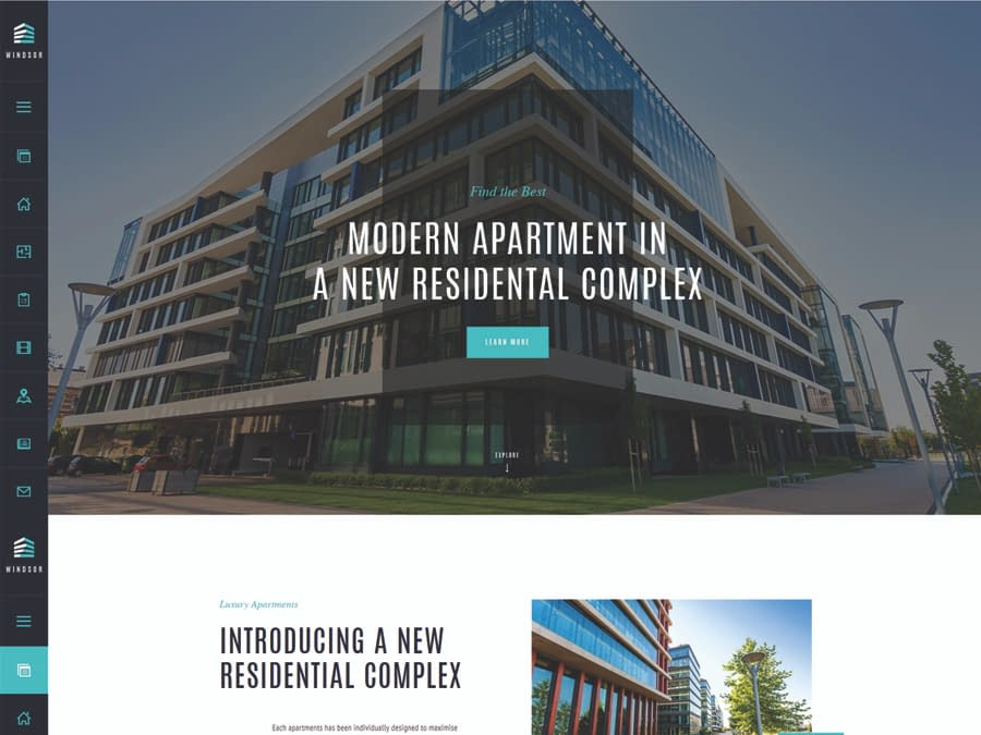 Windsor - Apartment Complex Single Property WordPress Theme