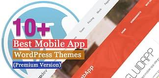Best Premium Mobile App WordPress Themes