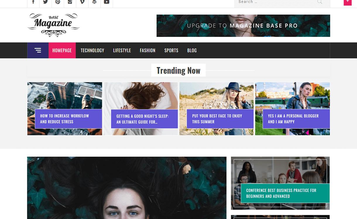 Magazine Base-Best Free WordPress Themes December 2017