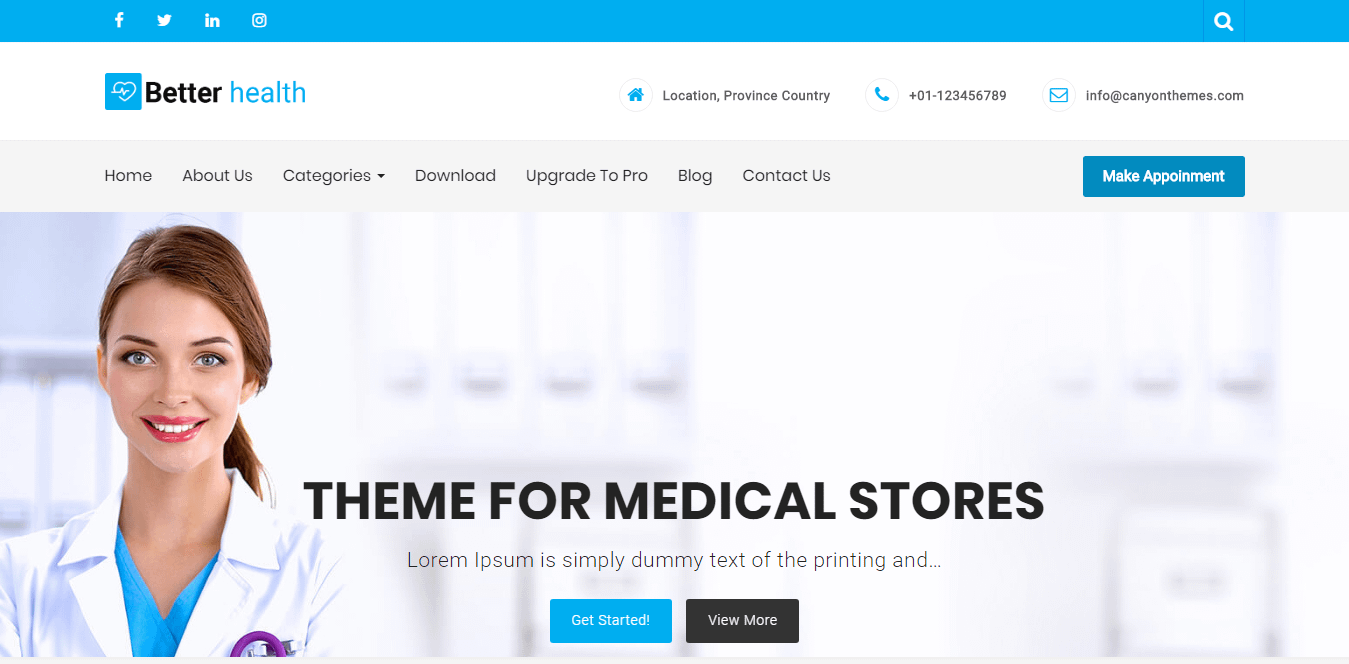 Better Health - Best Free Science WordPress Theme