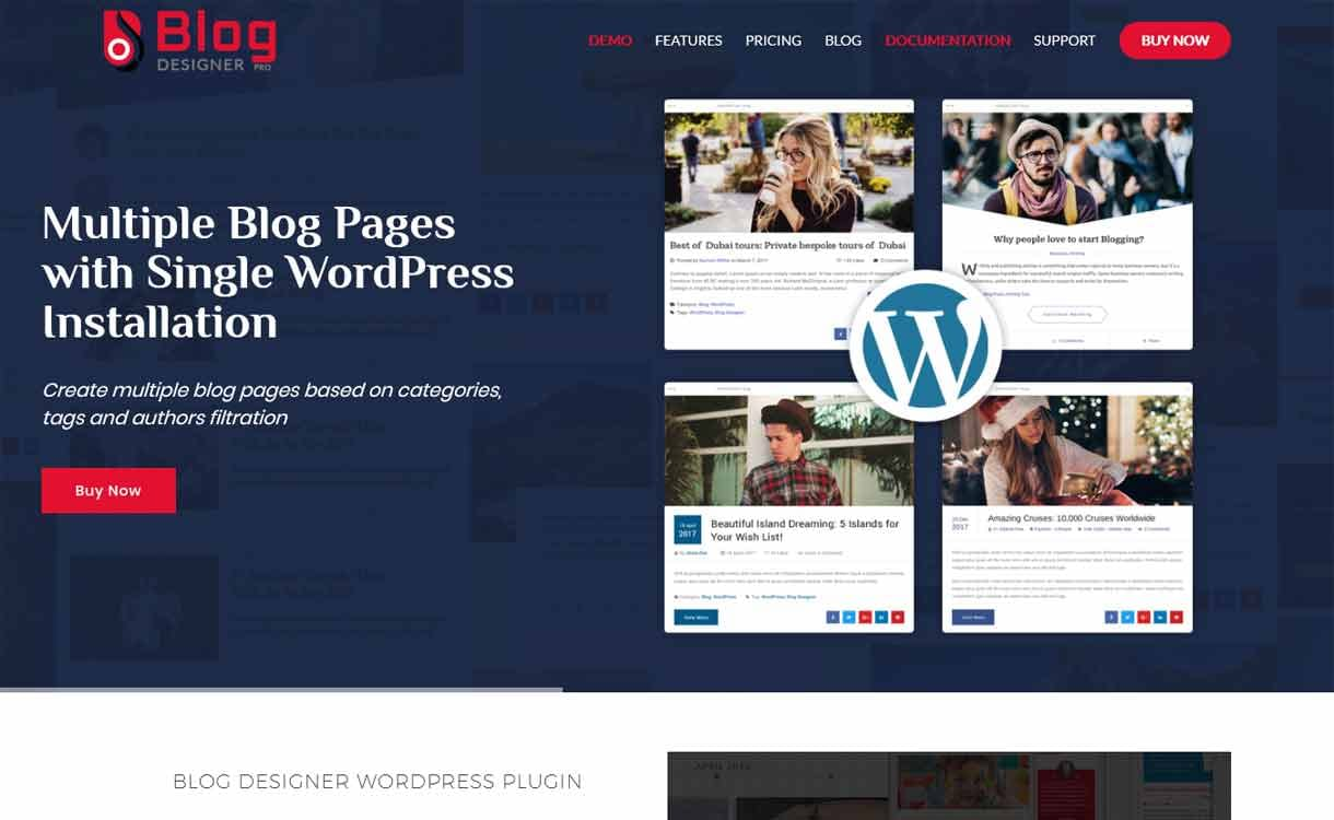 Blog Designer Pro - Premium WordPress Blog Manager Plugins
