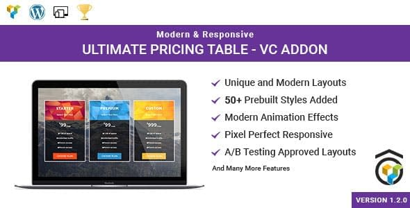 Ultimate Pricing Table for WPBakery Page Builder