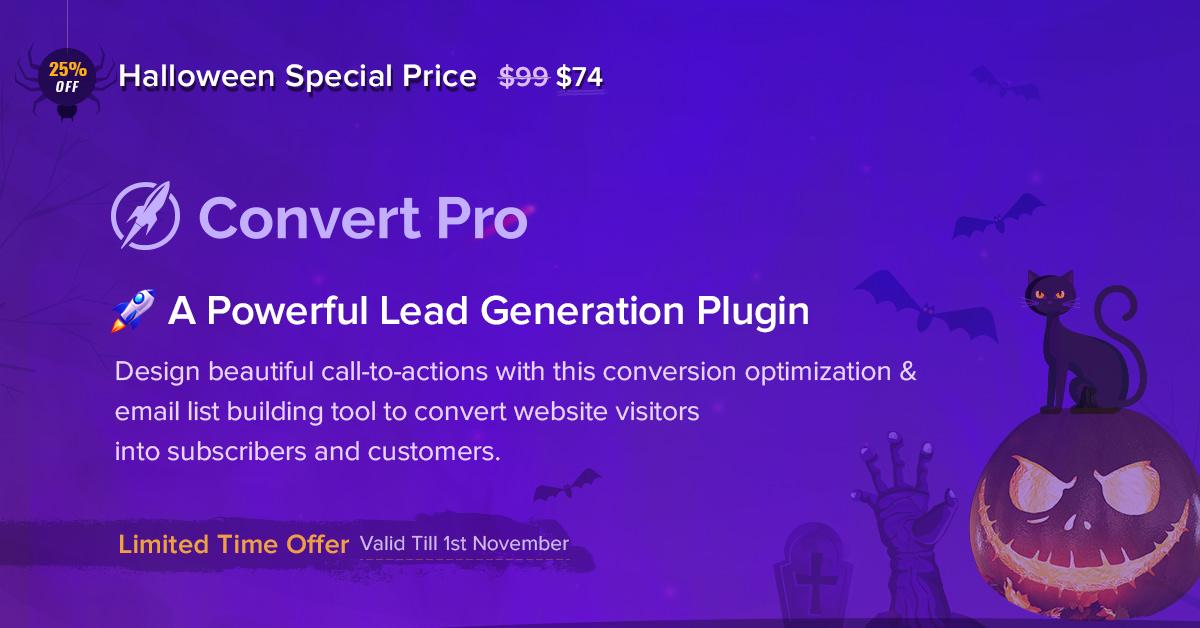 Convert Pro - Halloween Offer