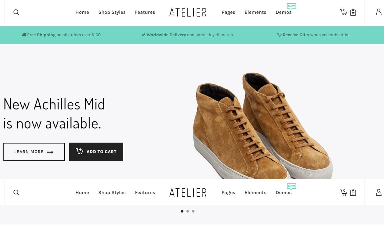 Atelier - Best Premium WordPress eCommerce/WooCommerce/Online Store Themes