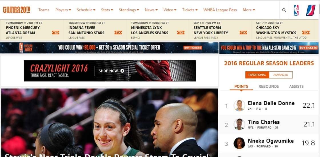 WNBA website