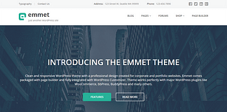 Emmet - Multipurpose WordPress Theme