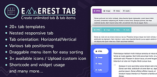 Everest Tab - Responsive WordPress Tab Plugin