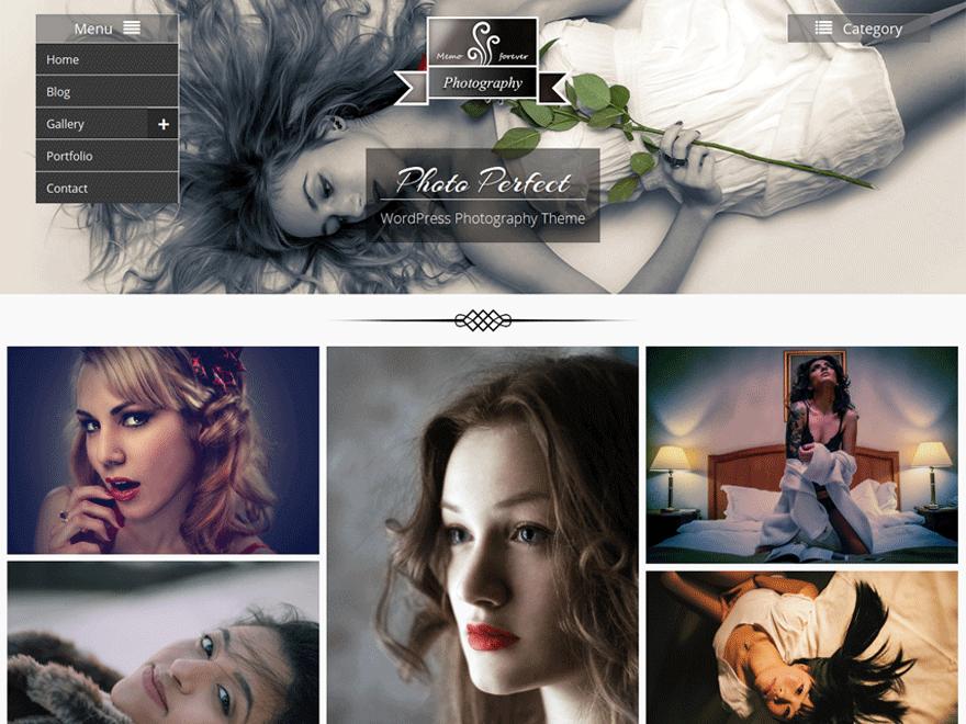 Photo-perfect - Free Photography WordPress Theme