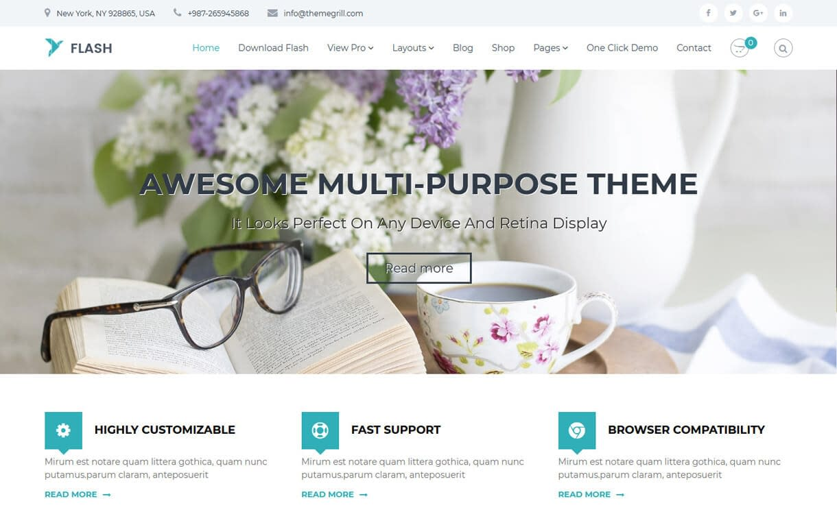 Flash-Best Agency WordPress Themes and Templates (Free)