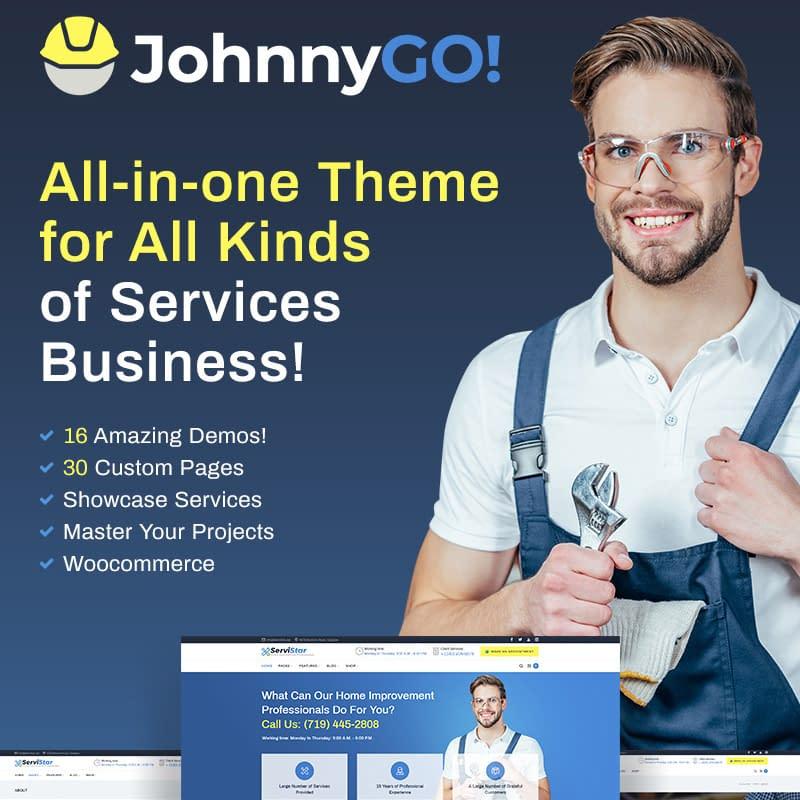 JohnnyGo - Multipurpose Home Services WordPress Theme