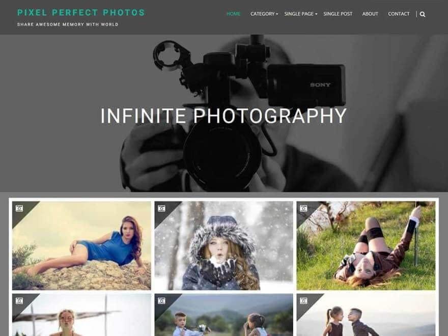 infinite-photography - Free Photography WordPress Theme