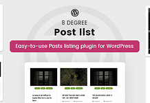 8Degree Posts List Lite - Free WordPress Post Listing Plugin
