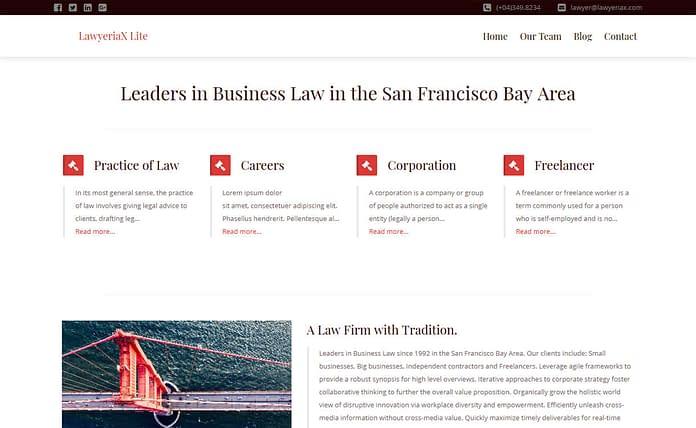 Lawyeriax Lite - Free WordPress Law Theme