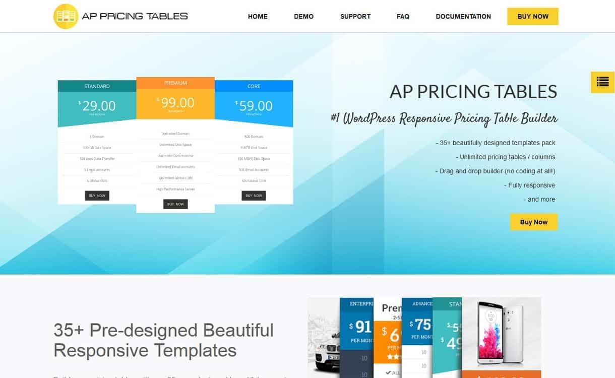 AP Pricing Table - WordPress Pricing Table Plugins