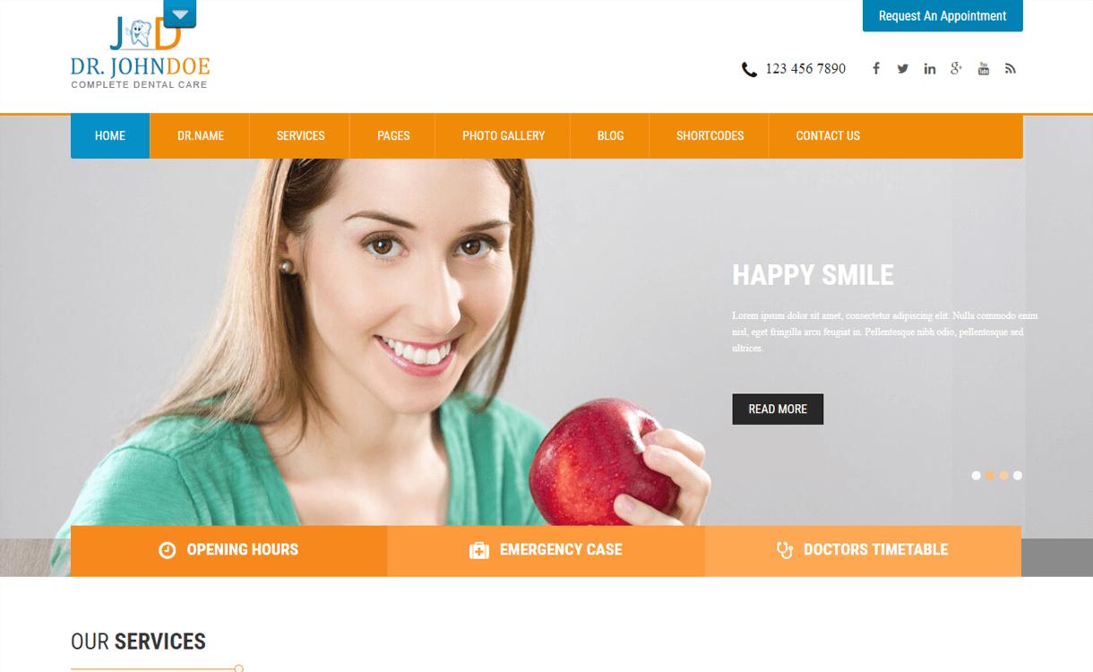 SKT Toothy-Best Free WordPress Health Medical Theme
