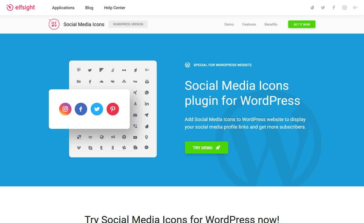 Social Media Icons - WordPress Social Icons Plugins