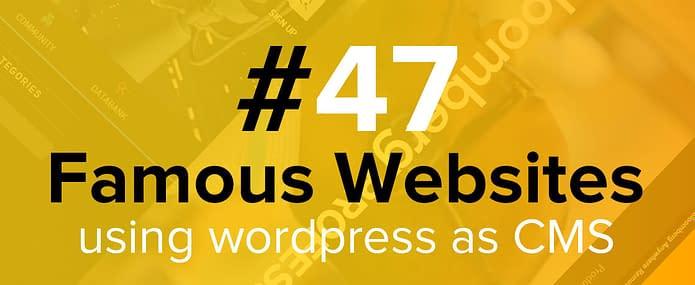 Famous Website Using WordPress