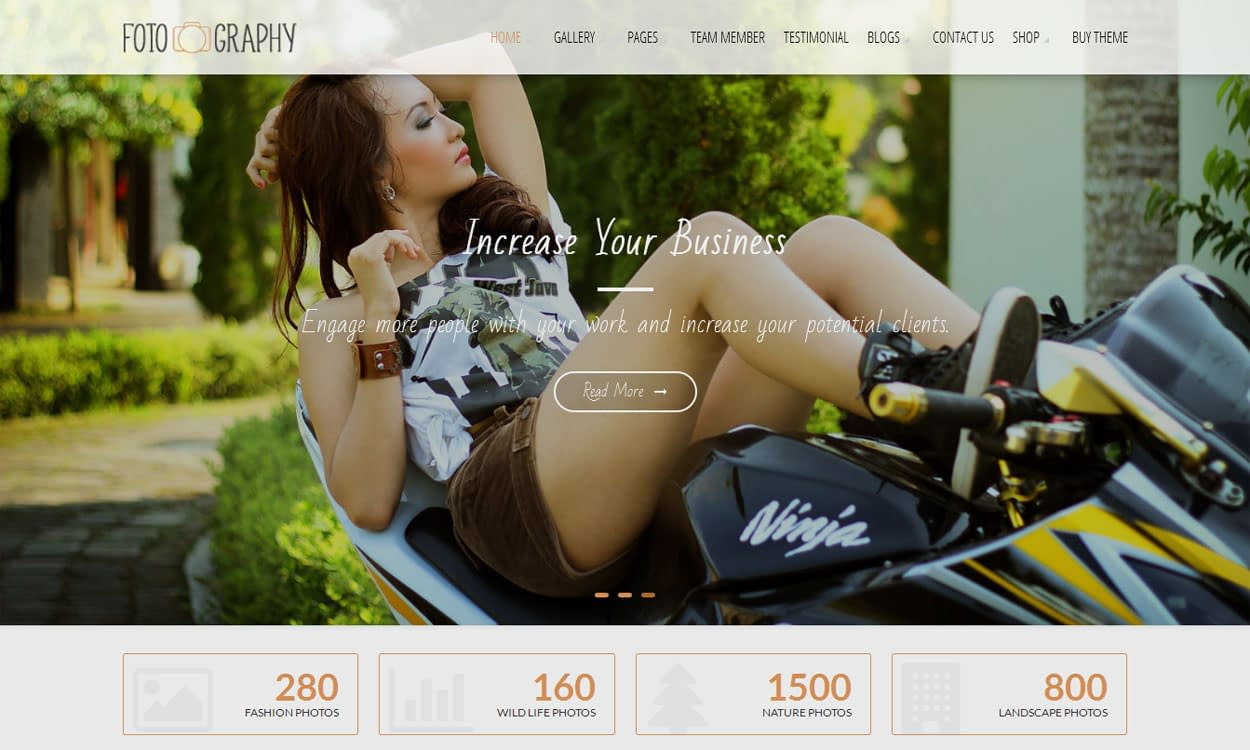 FotoGraphy - Best Free WordPress Photography Themes