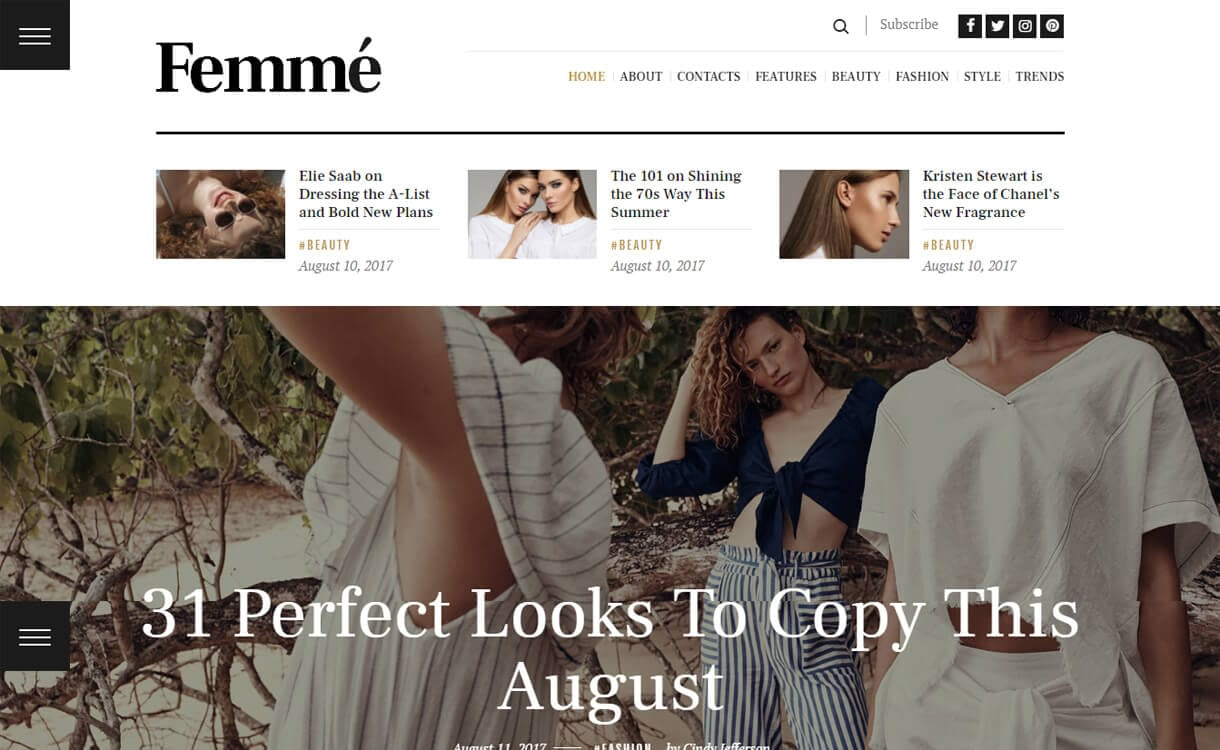 Femme-WordPress Blog Themes