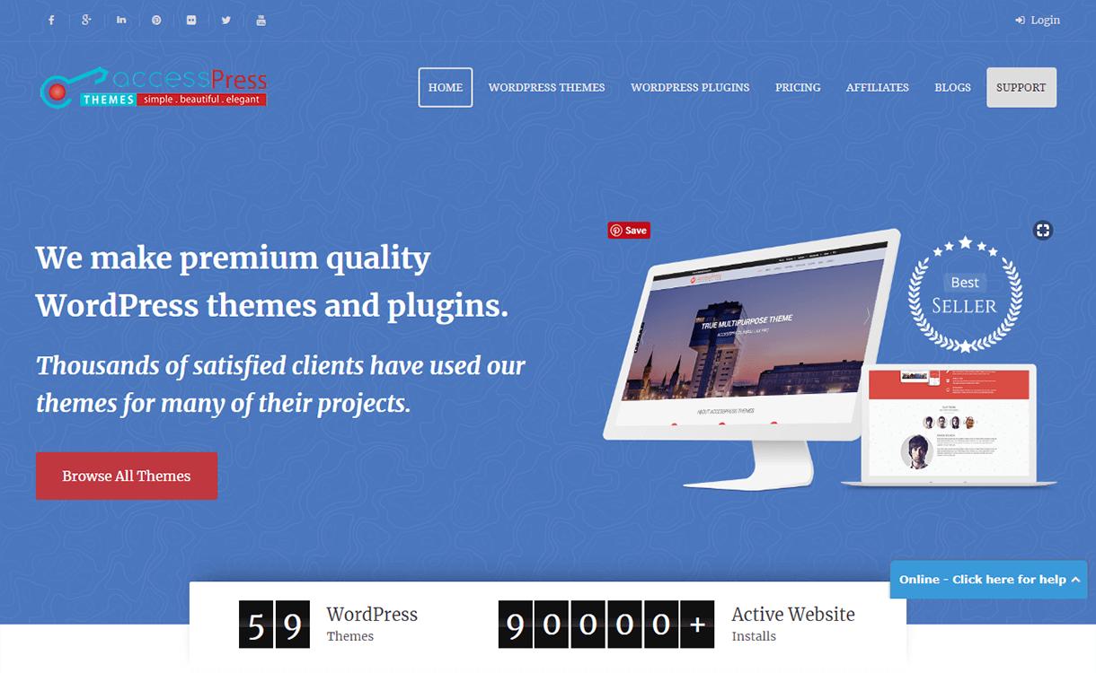 25% Off on Premium WordPress Themes by AccessPress Themes