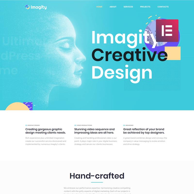 Imagity - Creative Minimal Elementor WordPress Theme