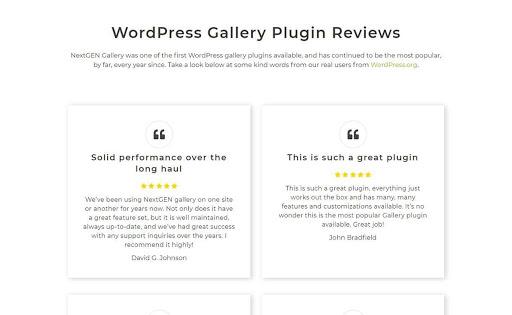 NextGEN Gallery Plugin Reviews