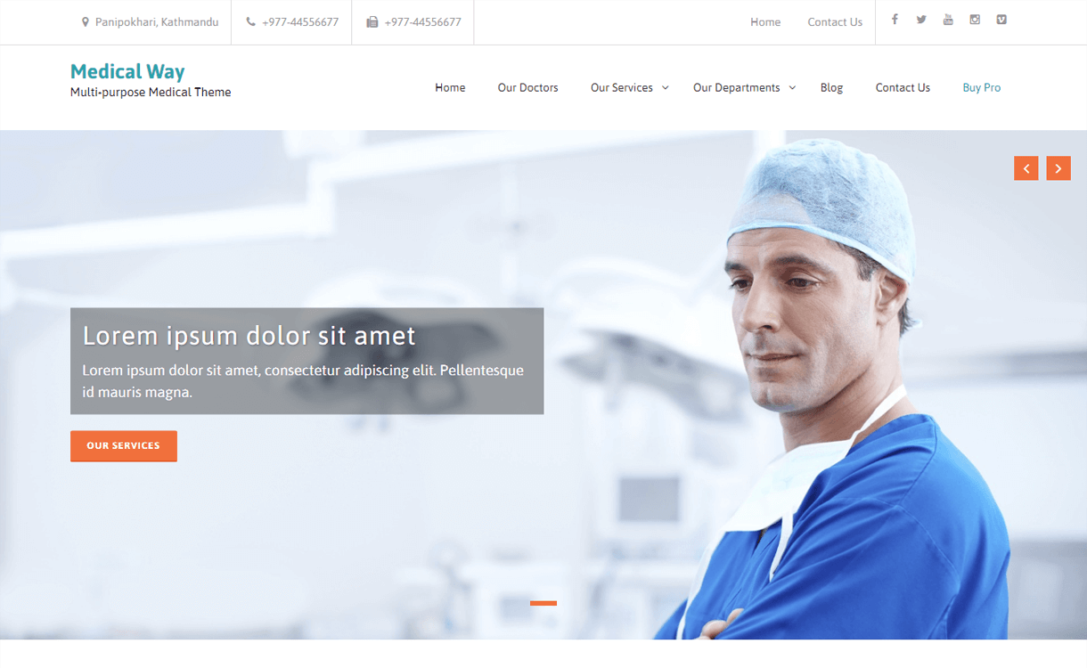 Medical Way-Best Free WordPress Health Medical Themes