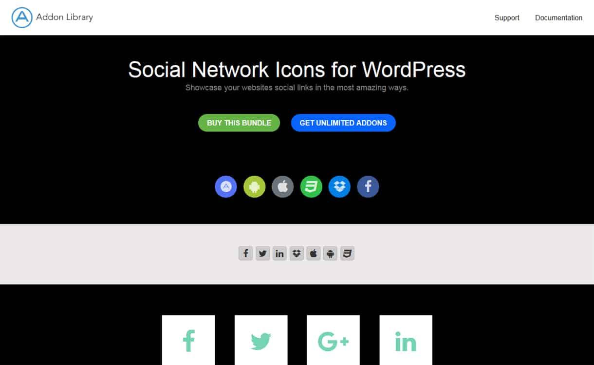 Social Network Icons Plugin - WordPress Social Icons Plugins