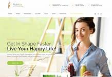 Nutritia - healthy nutrition and dietology WordPress Theme