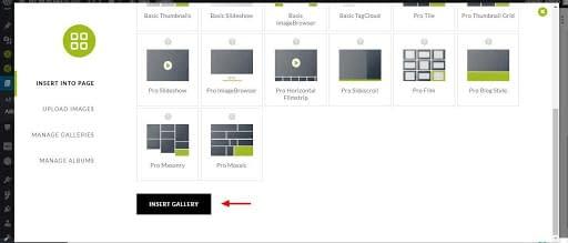 NextGEN Gallery Insert Gallery