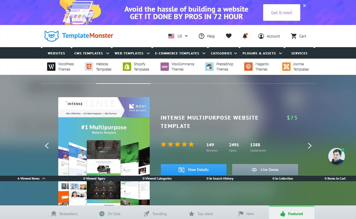 10% Off on Premium WordPress Themes by TemplateMonster