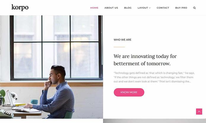 Korpo - Free WordPress Multipurpose Theme