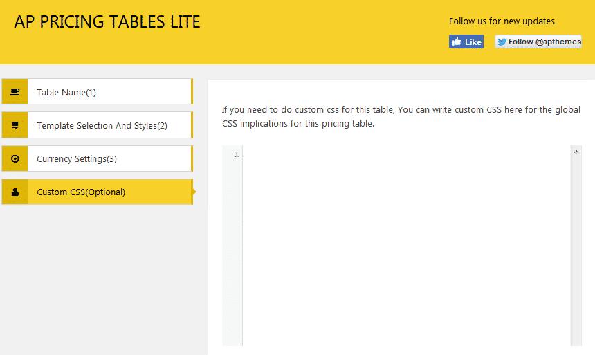AP Pricing Tables Lite: Custom CSS