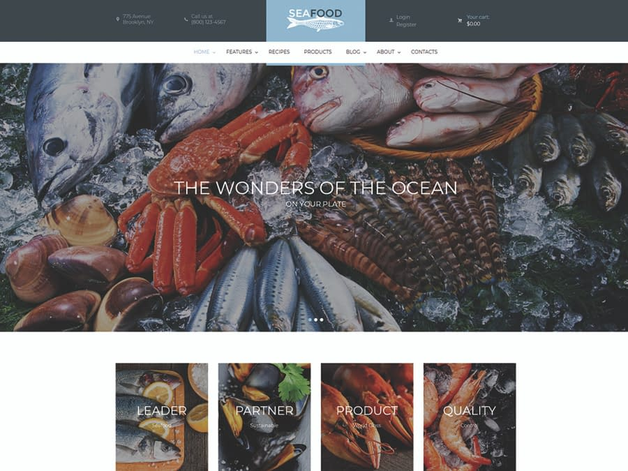 Seafood Company & Restaurant WordPress Theme