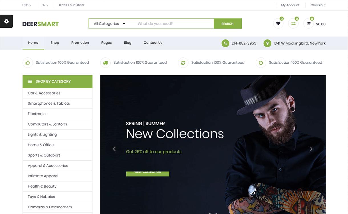 DeerSmart-Best Premium WordPress eCommerce WooCommerce Online Store Themes 2018