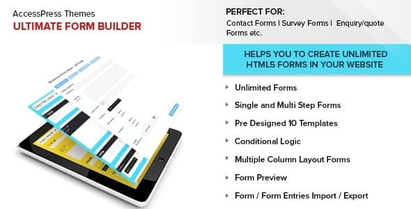Best WordPress Form Builder Plugin: Ultimate Form Builder Pro