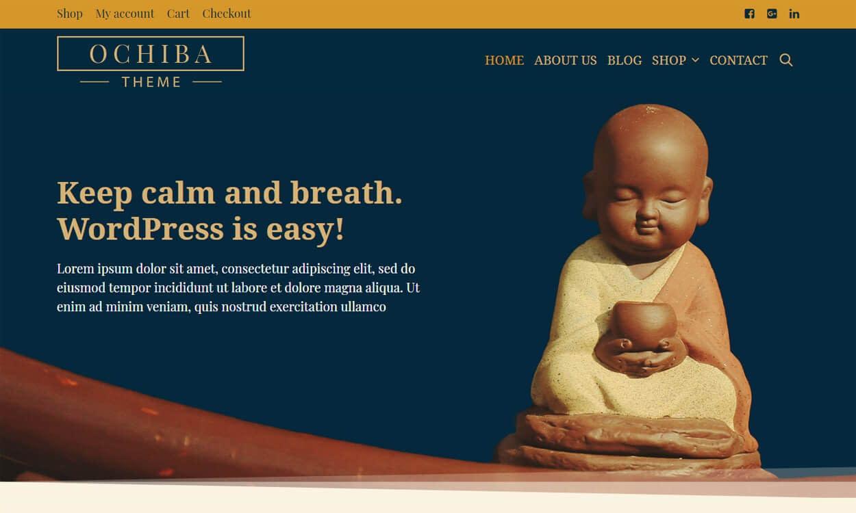 Ochiba - Best Free WordPress Themes August