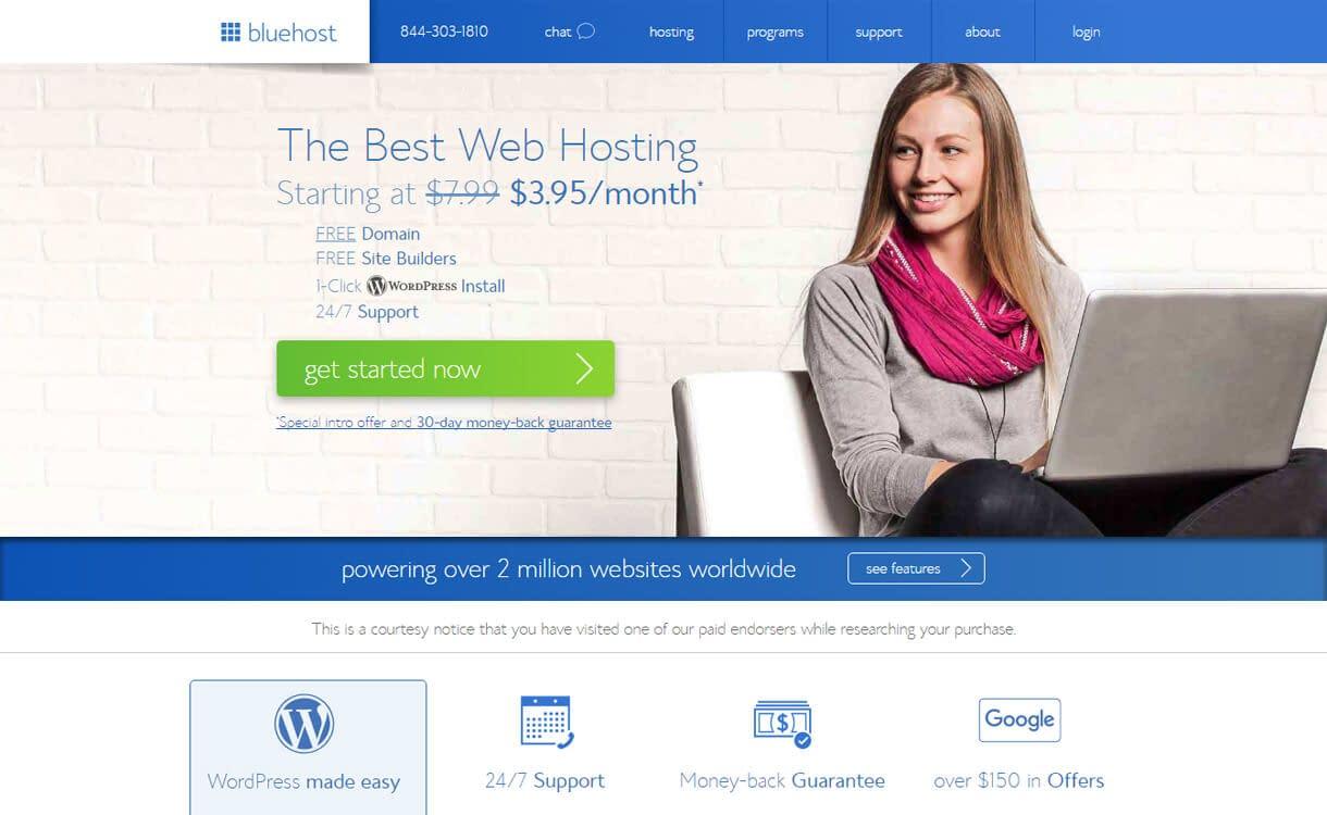 Bluehost-Best WordPress Hosting Services