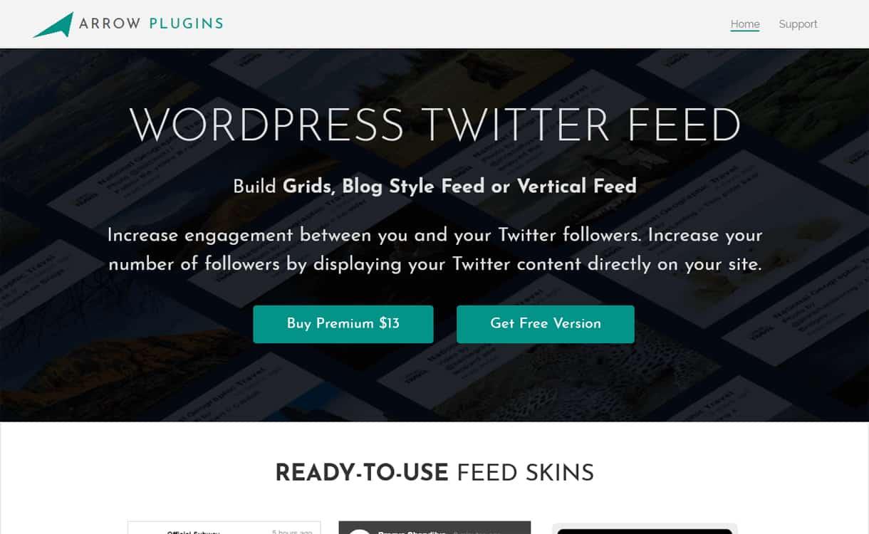Arrow Twitter Feed - WordPress Twitter Feed Plugins