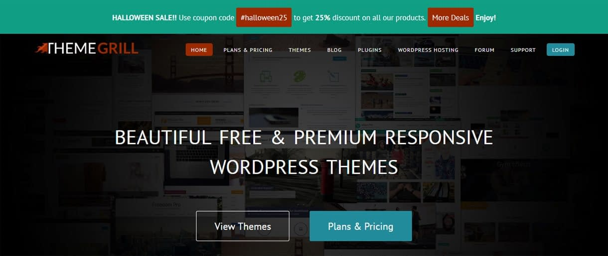 ThemeGrill - WordPress Deals and Discounts for Halloween
