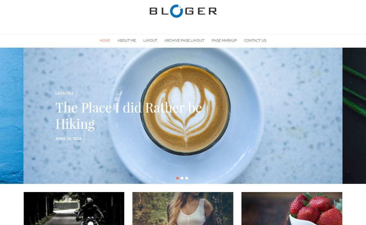 Bloger - Best Free WordPress Themes January 2017