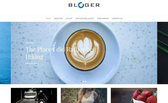 Bloger - Best Free WordPress Theme