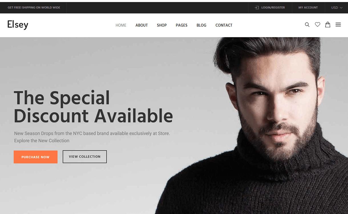 Elsey-Best Premium WordPress eCommerce WooCommerce Online Store Themes 2018