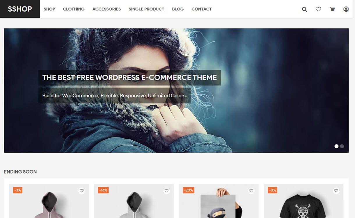 SShop-Best Free WordPress eCommerce Themes