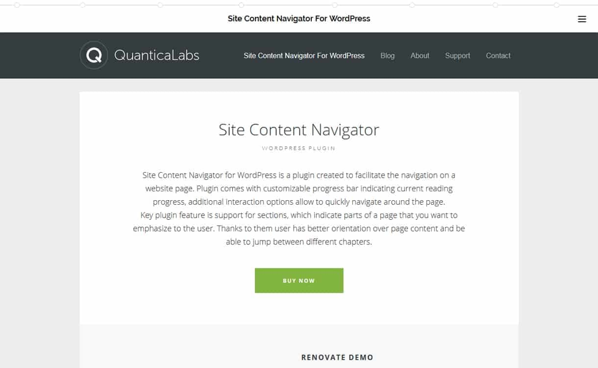 Site Content Navigator - WordPress One Page Navigation Navigation Plugins