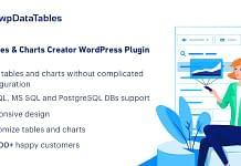 wpDataTables - Premium WordPress Tables & Chart Manager Plugin