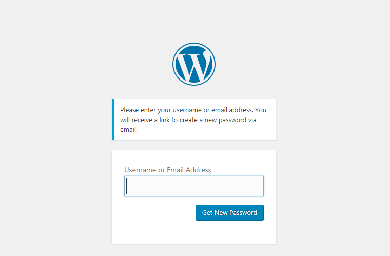 how to recover lost WordPress password
