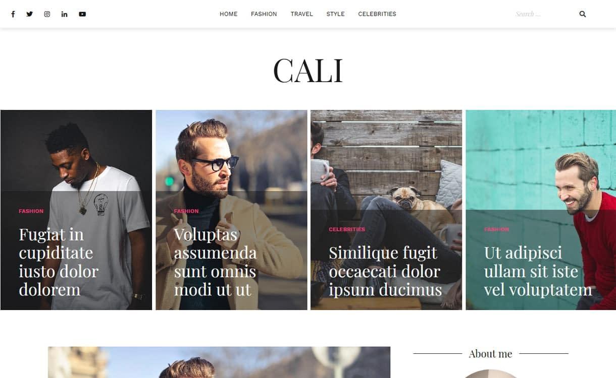 Cali-Best Free WordPress Themes May 2018